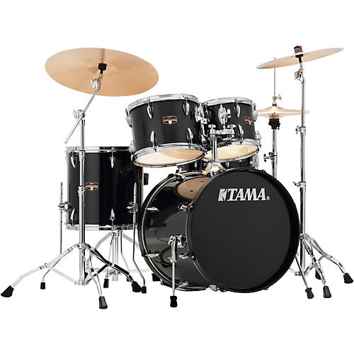 tama imperialstar 5 piece complete drum set with meinl hcs cymbals and 20 in bass drum hairline. Black Bedroom Furniture Sets. Home Design Ideas
