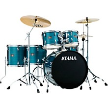 """TAMA Imperialstar 6-Piece Complete Drum Set with Meinl HCS Cymbals and 22"""" Bass Drum"""