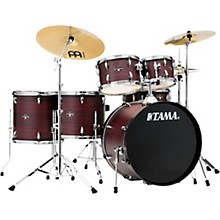 Imperialstar 6-Piece Complete Drum Set with Meinl HCS Cymbals and 22 in. Bass Drum Burgundy Walnut Wrap