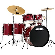 Imperialstar 6-Piece Complete Drum Set with Meinl HCS Cymbals and 22 in. Bass Drum Candy Apple Mist