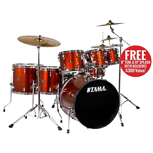 TAMA Imperialstar 6-Piece Drum Set with Cymbals and Free 8