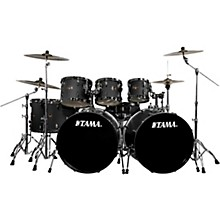 TAMA Imperialstar 8-Piece Drum Set in Black Nickel Hardware with Meinl HCS Cymbals