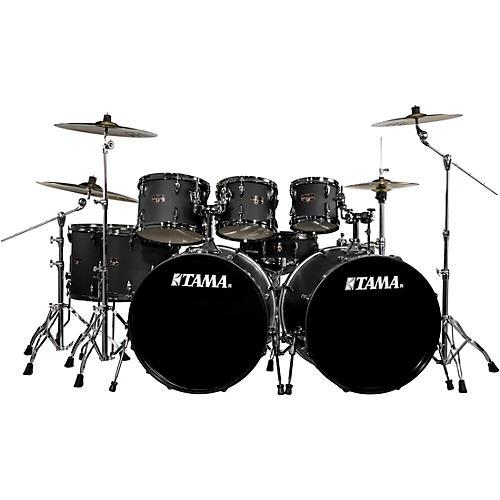 TAMA Imperialstar 8-Piece Drum Set in Black Nickel Hardware with Meinl HCS Cymbals