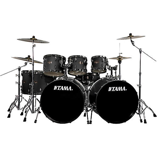 tama imperialstar 8 piece drum set with meinl hcs cymbals blacked out black musician 39 s friend. Black Bedroom Furniture Sets. Home Design Ideas