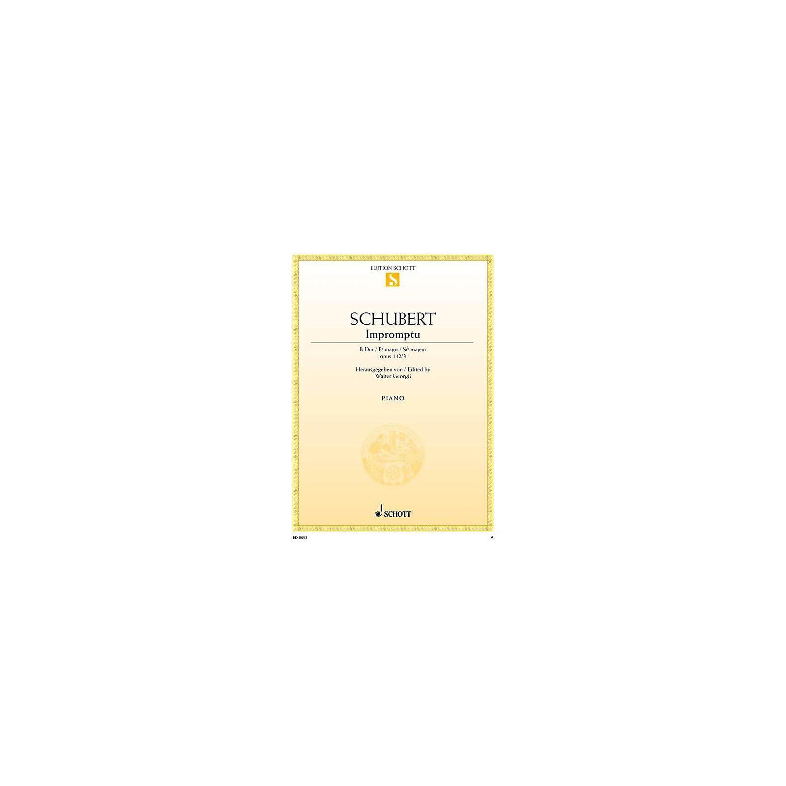 Schott Impromptu No. 3 in B-flat Major, Op. posth. 142, D 935/3 Schott Series