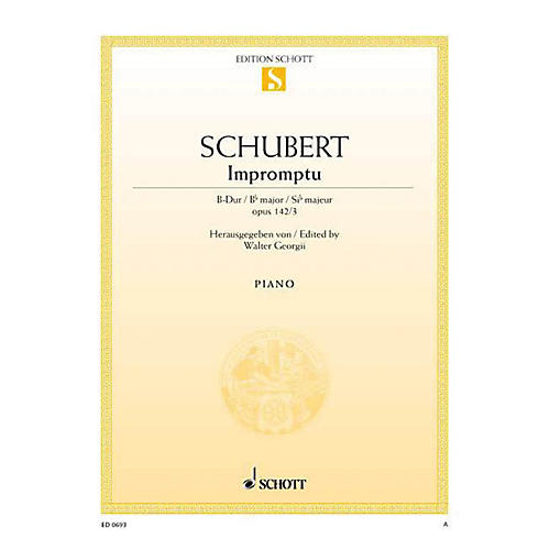 Schott Impromptu No. 3 in B-flat Major, Op. posth. 142, D 935/3 Schott Series