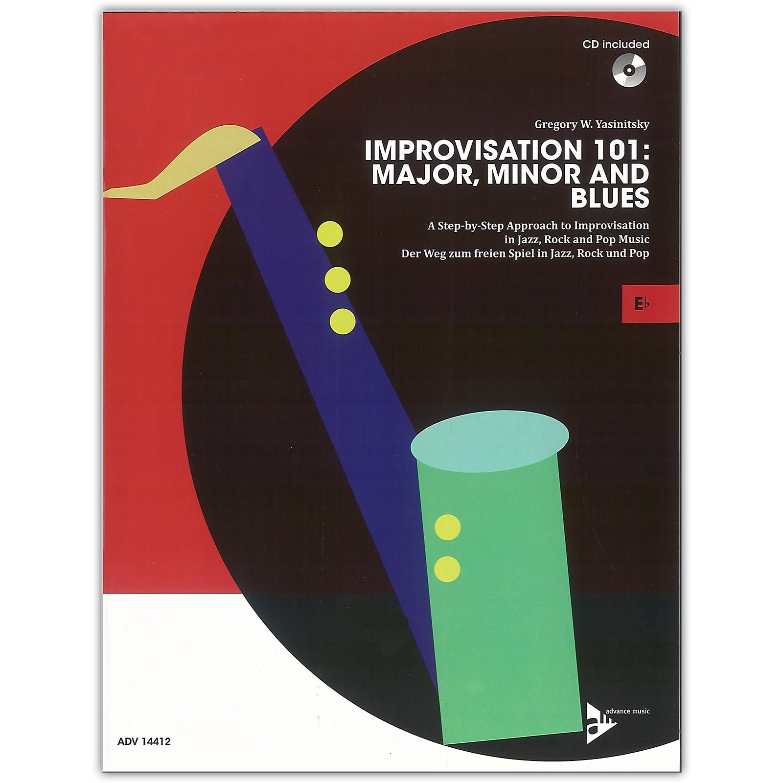 ADVANCE MUSIC Improvisation 101: Major, Minor, and Blues E-flat Instruments Book & CD