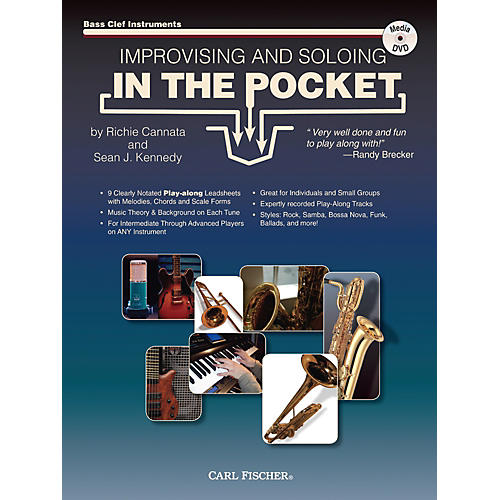 Carl Fischer Improvising And Soloing In the Pocket (For Bass Clef Instruments) - Book/CD