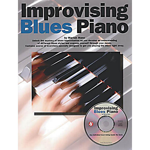 Music Sales Improvising Blues Piano Music Sales America Series Softcover with CD Written by Martin Mann