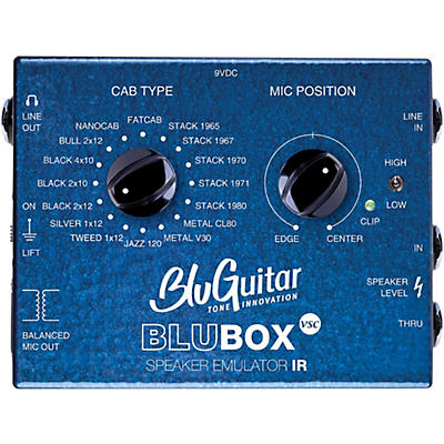 BluGuitar Impulse Response Speaker Emulator Pedal