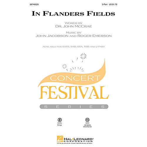 Hal Leonard In Flanders Fields 2-Part arranged by Roger Emerson