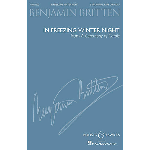 Boosey and Hawkes In Freezing Winter Night (from A Ceremony of Carols) (SSS and Harp or Piano) by Benjamin Britten