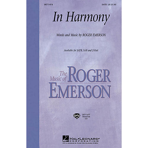 Hal Leonard In Harmony ShowTrax CD Composed by Roger Emerson