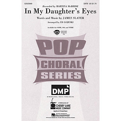 Cherry Lane In My Daughter's Eyes ShowTrax CD by Martina McBride Arranged by Ed Lojeski