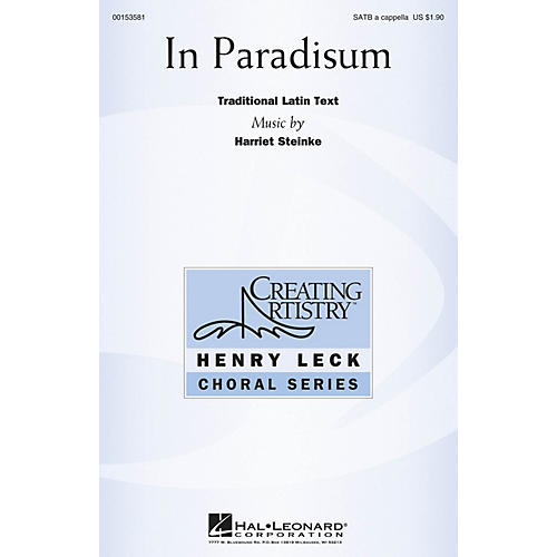 Hal Leonard In Paradisum SATB a cappella composed by Harriet Steinke
