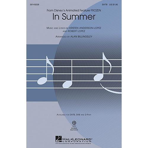 Hal Leonard In Summer (from Frozen) SATB arranged by Alan Billingsley