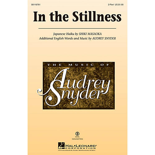 Hal Leonard In the Stillness 2-Part composed by Audrey Snyder