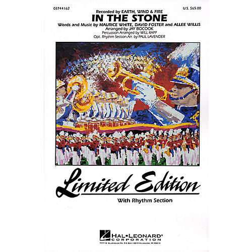 Hal Leonard In the Stone Marching Band Level 4 by Earth, Wind & Fire Arranged by Jay Bocook