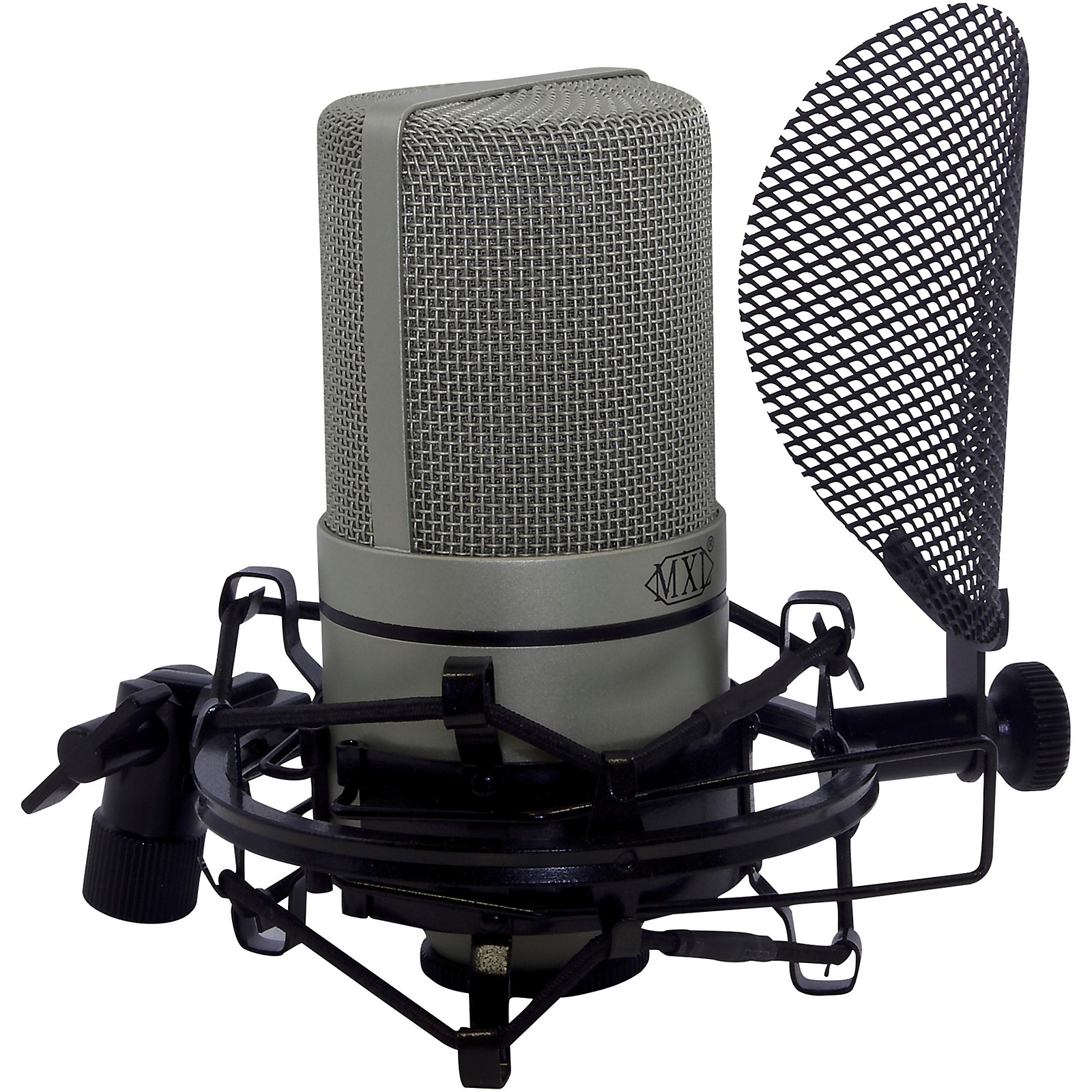 MXL Includes 990 microphone, SMP-1 PF/SM & cable