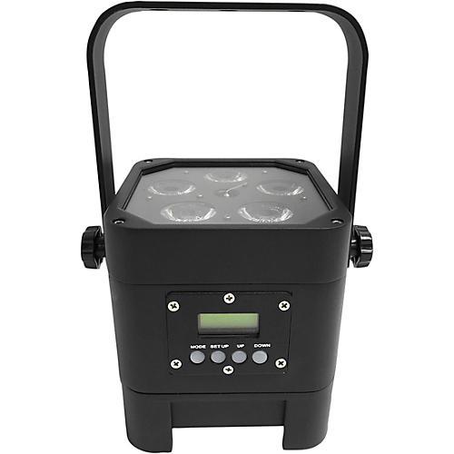 Eliminator Lighting Indy Hex Par Wireless Outdoor RGBWA+UV LED Wash Light Black