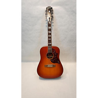 Epiphone Inspired By Gibson Hummingbird 12-string 12 String Acoustic Electric Guitar