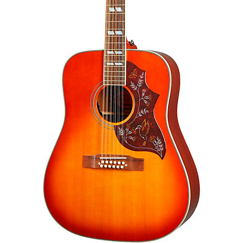 Epiphone Inspired by Gibson Hummingbird 12-String Acoustic-Electric Guitar Aged Cherry Sunburst