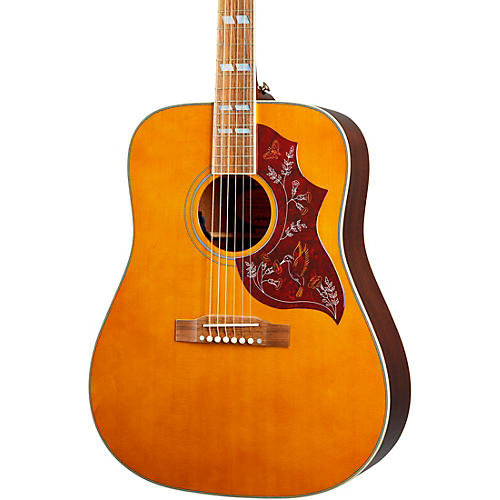 Epiphone Inspired by Gibson Hummingbird Acoustic-Electric Guitar Aged Natural Antique