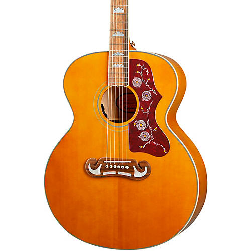 Epiphone Inspired by Gibson J-200 Acoustic-Electric Guitar Aged Natural Antique