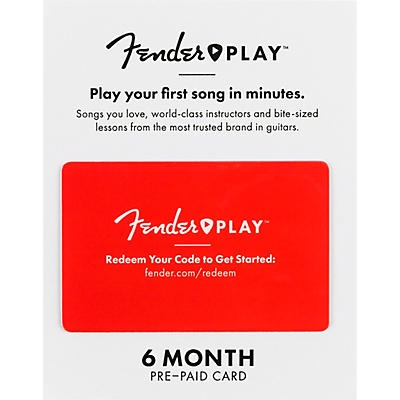 Fender Instructional, Learn to Play Guitar Lesson Platform for Beginners - 6 Month Prepaid Gift Card