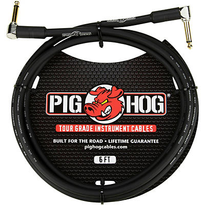 "Pig Hog Instrument Cable 1/4"" Right Angle - 1/4"" Right  Angle"