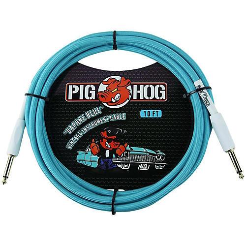 Pig Hog Instrument Cable 10 ft. Daphne Blue