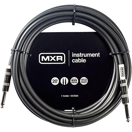 MXR Instrument Cable 20 ft. Black