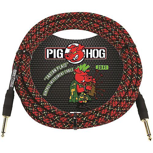 Pig Hog Instrument Cable 20 ft. Tartan Plaid