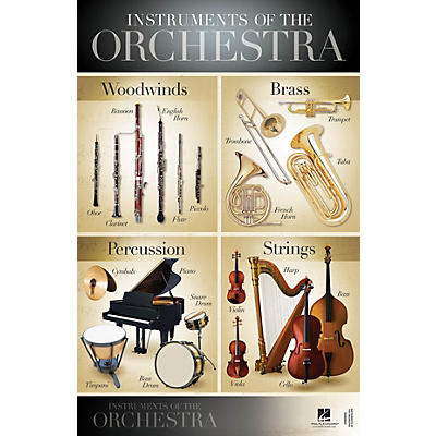Hal Leonard Instruments of the Orchestra Wall Poster - 22 inch x 34 inch