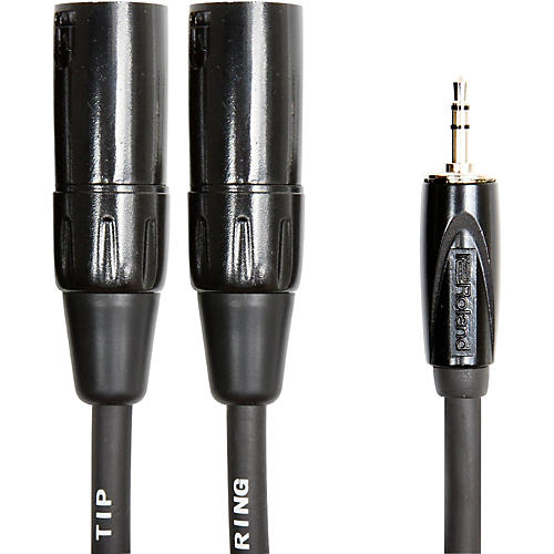 Roland Interconnect Cable-3.5mm-Dual XLR (Male) 10 ft.