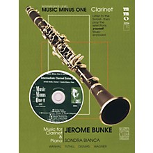 Music Minus One Intermediate Clarinet Solos - Vol. II Music Minus One Series BK/CD Performed by Jerome Bunke