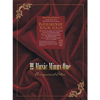 Music Minus One Intermediate Tenor Solos Music Minus One Series Softcover with CD  by Various
