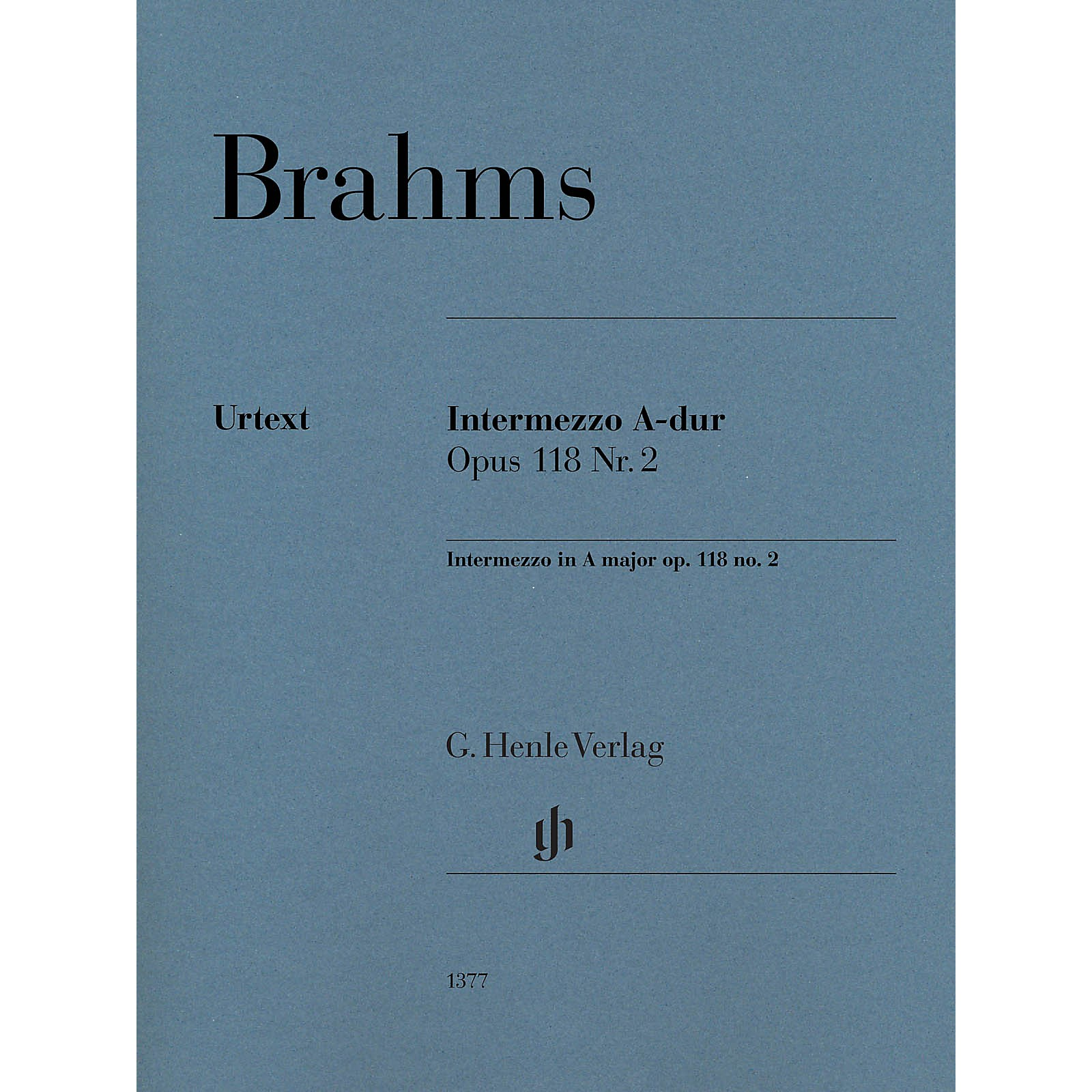 G. Henle Verlag Intermezzo in A Major, Op. 118, No. 2 Piano by Brahms