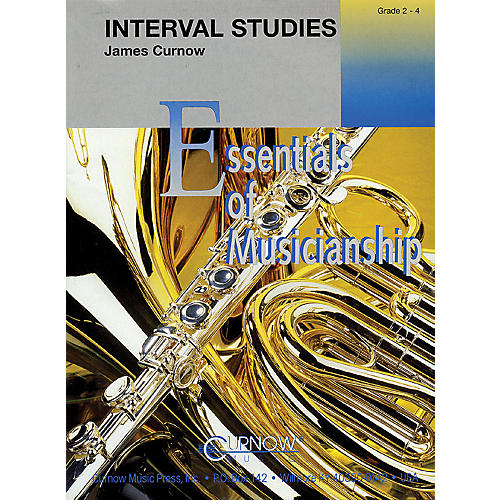 Curnow Music Interval Studies (Grade 2 to 4 - Score and Parts) Concert Band Level 2-4 Composed by James Curnow
