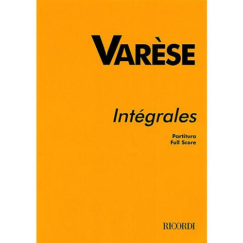 Ricordi Intégrales (Study Score) Study Score Series Composed by Edgard Varèse