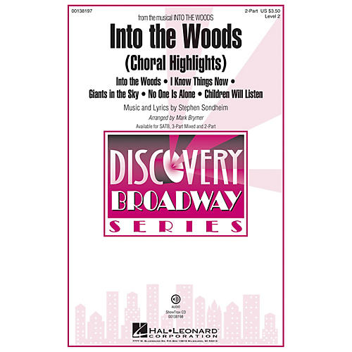 Hal Leonard Into the Woods (Choral Highlights Discovery Level 2) 2-Part arranged by Mark Brymer