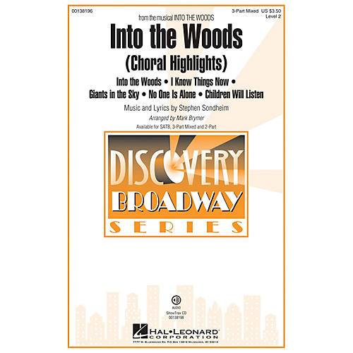 Hal Leonard Into the Woods (Choral Highlights Discovery Level 2) 3-Part Mixed arranged by Mark Brymer