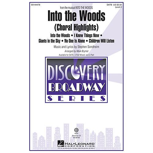 Hal Leonard Into the Woods (Choral Highlights Discovery Level 2) ShowTrax CD Arranged by Mark Brymer