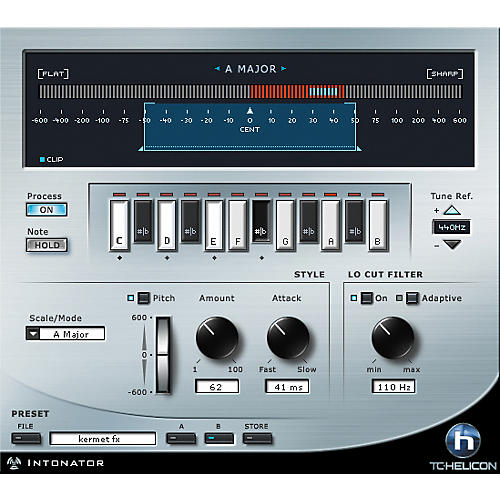 TC Helicon Intonator HS Pitch Correction Plug-in for PowerCore