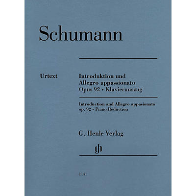 G. Henle Verlag Introduction and Allegro Appassionato for Piano and Orchestra, Op. 92 Henle Music Softcover by Schumann