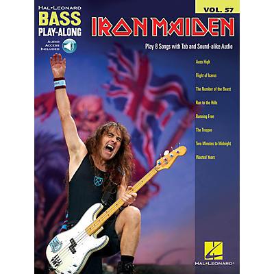 Hal Leonard Iron Maiden Bass Play-Along Volume 57 Book/Audio Online