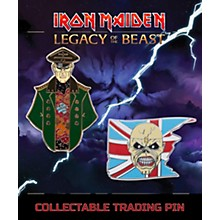 Entertainment Earth Iron Maiden Set #1 Trooper Eddie and General Lapel Pin 2-Pack