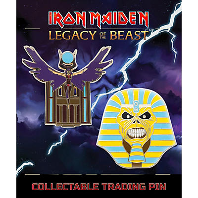Entertainment Earth Iron Maiden Set #2 Pharaoh and Aset Lapel Pin 2-Pack