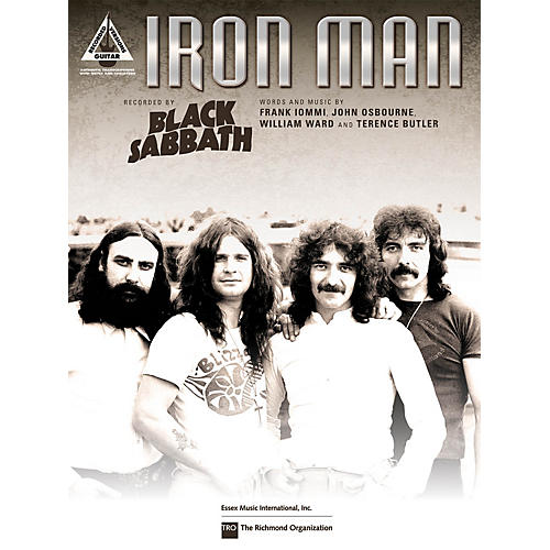 Hal Leonard Iron Man Guitar Sheet Series Performed by Black Sabbath