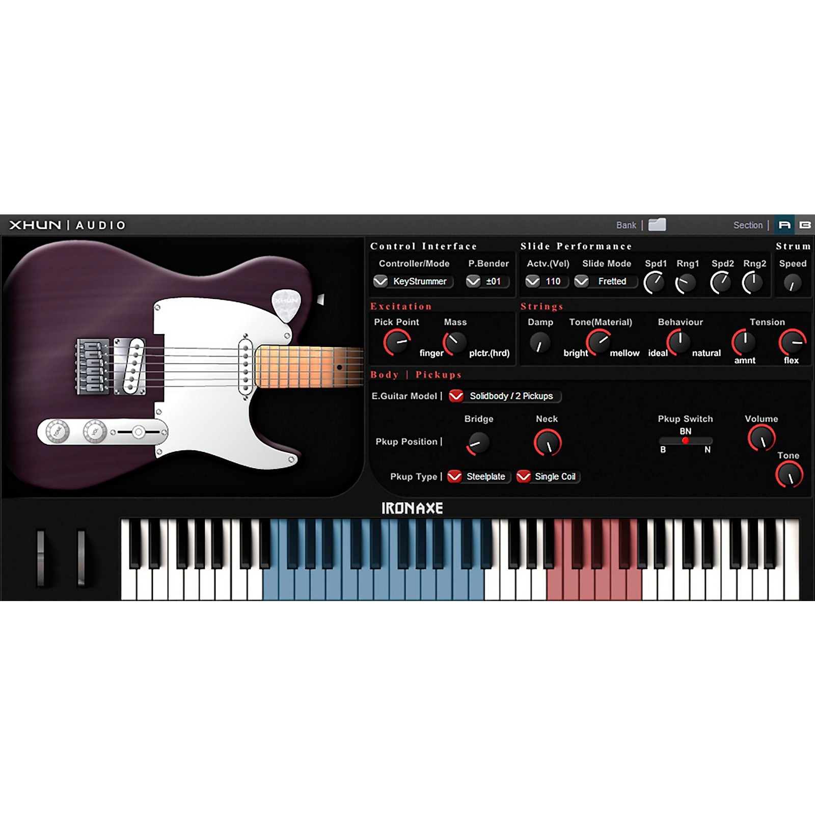 XHUN Audio IronAxe Virtual Guitar (Download)